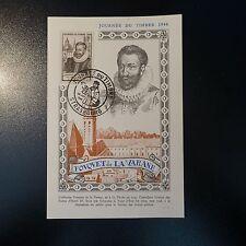 FOUQUET DE LA VARANE N°754 CARTE MAXIMUM CAD JOURNÉE DU TIMBRE STRASBOURG 1946