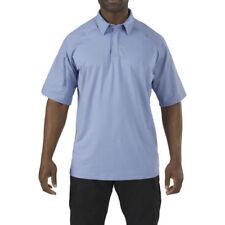 Polos de hombre en color principal azul de poliéster