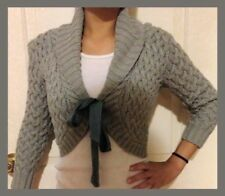🌟 Abercrombie Sweater Crop Cropped COAT JACKET SMALL S topshop hollister