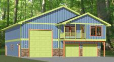 44x48 Apartment with 2-Car 1-RV Garage - PDF FloorPlan - 1,528 sqft - Model 5G