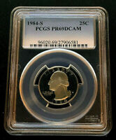 1984 S 25¢ PCGS Washington Quarter PR69 Deep Cameo
