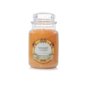 ☆☆HOT BUTTERED RUM☆☆LARGE YANKEE CANDLE JAR☆☆FREE EXPEDITED SHIPPING