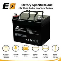 12V 35Ah Sealed Lead Acid Rechargeable VRLA AGM Battery