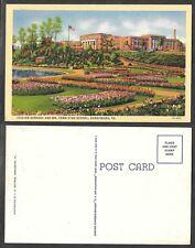 Old Pennsylvania Postcard - Harrisburg - Italian Gardens and Penn High School