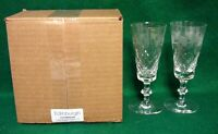Edinburgh LOCHNAGAR Champagne Flutes SET of TWO More Available MINT IN BOX