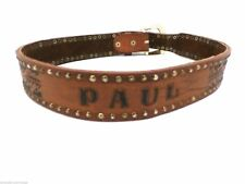 Vintage Hand Tooled Belt Mens Cintos Imperial Mexico Heavy Paul 36 Brass Studs