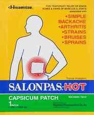2 Patch of Hisamitsu Salonpas Hot Capsicum Patch 5.12 in x 7.09