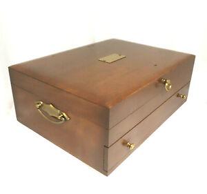 Wood Tarnish Resistant Silverware Flatware Storage Chest Box Wooden Drawer 92