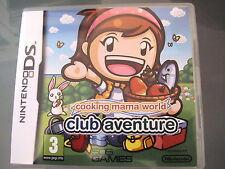 JEU NINTENDO DS @@ DS LITE DSI XL 3DS @@ COOKING MAMA CLUB AVENTURE @@ COMPLET