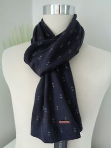 BNWT Ted Baker May Navy Geo Pattern Viscose Cashmere Knitted Scarf