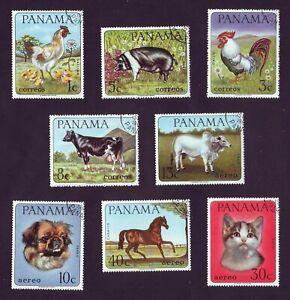 Panama 1967  Pets & Farm Animals  CTO complete set (8v) 956-963