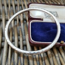 SILPADA STERLING SILVER BANGLE, PULL ON BANGLE, HAMMERED DESIGN, 925 SILVER