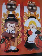 Bucilla Felt Applique Door Knob Covers Kit,PILGRIMS,Thanksgiving,Autumn,#40409