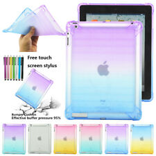 For iPad 2 3 4 9.7 inch Gradient Clear TPU Case Cover Soft Skin