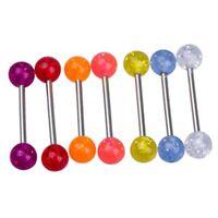 7X Colores Piercing de Ombligo Lengua Bola Acero 316L G4D6