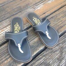 Kino Sandals Black Size 7 8 Flip Flops Slip On Womens Key West Florida Shoes