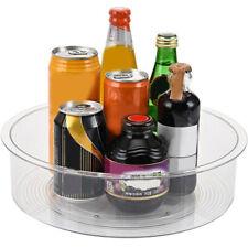 Rotating Kitchen Storage Cabinet Turntable Condiment Holder Cosmetic Organizer
