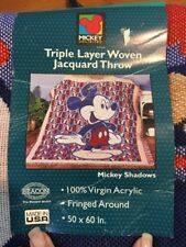 "Disney Mickey Mouse Triple Layer Woven Jacquard Throw Blanket, 50"" x 60"""