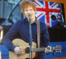"""ED SHEERAN super 10x8"""" colour photo hand-signed & COA"""