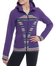 LULULEMON ivivva girls remix hoodie size 10 thumbholes purple sparkle striped
