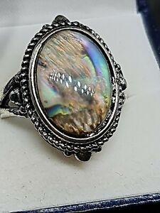 multicolored labradorite sterling silver sf ring size 9 us