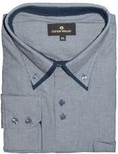 Camicie classiche da uomo blu Cotone XL
