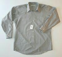 Geoffrey Beene NEW Gray Mens Size 16 Wrinkle Free Patterned Dress Shirt 32 33