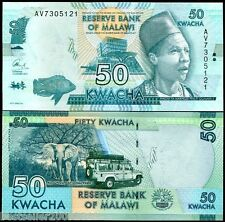 Malawi 50 Kwacha UNC CURRENCY latest issue  # 580