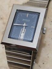 A very nice vintage sandoz squared automatic men wrist watch blue dial