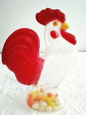 """Vintage Plastic Rooster Easter Candy Container, Large 10.5""""in Tall"""