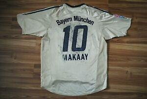 SIZE M BAYERN MUNICH MUNCHEN FOOTBALL AWAY SHIRT 2004/2005 JERSEY VINTAGE MAKAAY