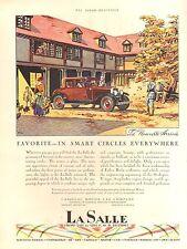 1928 CADILLAC LASALLE FAVORITE  CAR AD ORIG VINTAGE