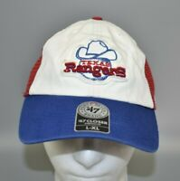 Texas Rangers '47 Brand MLB Stretch Fit Relaxed Fitted Mesh Cap Hat - Size: L/XL