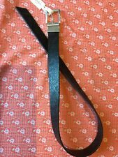 ROBERT GRAHAM Black LEATHER PAISLEY REVERSIBLE Buckle BELT sz 32 NWT Ret. $98