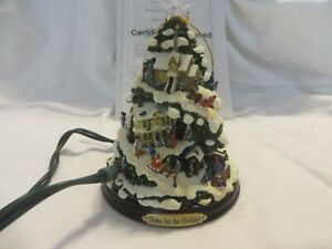 BRADFORD EDITIONS THOMAS KINKADE VILLAGE CHRISTMAS ILLUMINATED TREE ORNAMENT