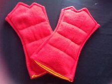 Wheat/Heat Bag gloves -RED - aching hands, arthritis etc, mircrowave safe