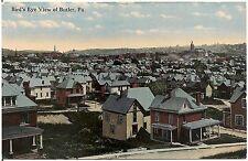 Bird's Eye View of Butler PA Postcard 1914