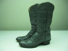 VINTAGE DISTRESSED ADAMS SILVER GRAY WESTERN COWBOY RANCH BOOTS MADE IN USA 9