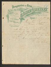 """ROUEN (76) DRAPERIES en gros """"Achille LEFEBVRE"""" en 1900"""
