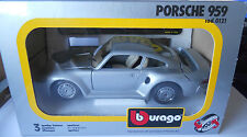 Bburago Porsche 959 Silver 1/24 Original Burago Mint Condition 30 Years Old