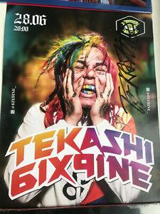 Tekashi 6ix9ine signed poster