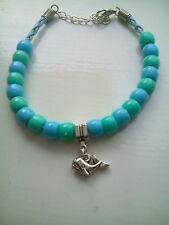 whale charm & bead bracelet