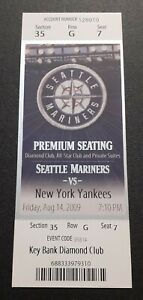 MARIANO RIVERA 900th GAME PITCHED 2009 Yankees @ Mariners 8/14 Full Ticket CLUB