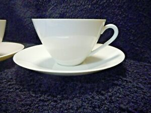 Arzberg Germany  White Set 1 of 4 avail  Fine China Tea Cups & Saucers 44  '68-9