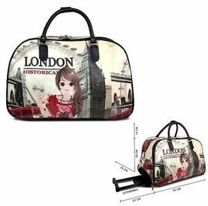 Ladies Girl London Eye Holdall Weekend Bag Big Ben Trolley Hand Luggage Travel