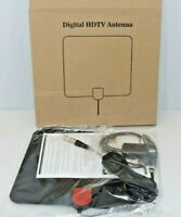 TV Antenna HD Digital with USB Amplifier 4K 1080P - For Indoor Use - Black - NEW