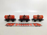 CR508-0,5# 3x Trix Express H0/DC/3L Kesselwagen, abgeändert, Standard 2068/ST.