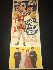 THAT'S MY BOY  original JERRY LEWIS  classic - U.S INSERT