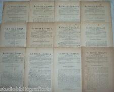 Cugnoni Castagnola LA SCUOLA ROMANA Foglio Periodico di Letteratura e Arte 1886