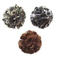 Fabric&lace Headband Clip/brooch, Hair Flower (Zebra Leopard & Brown)